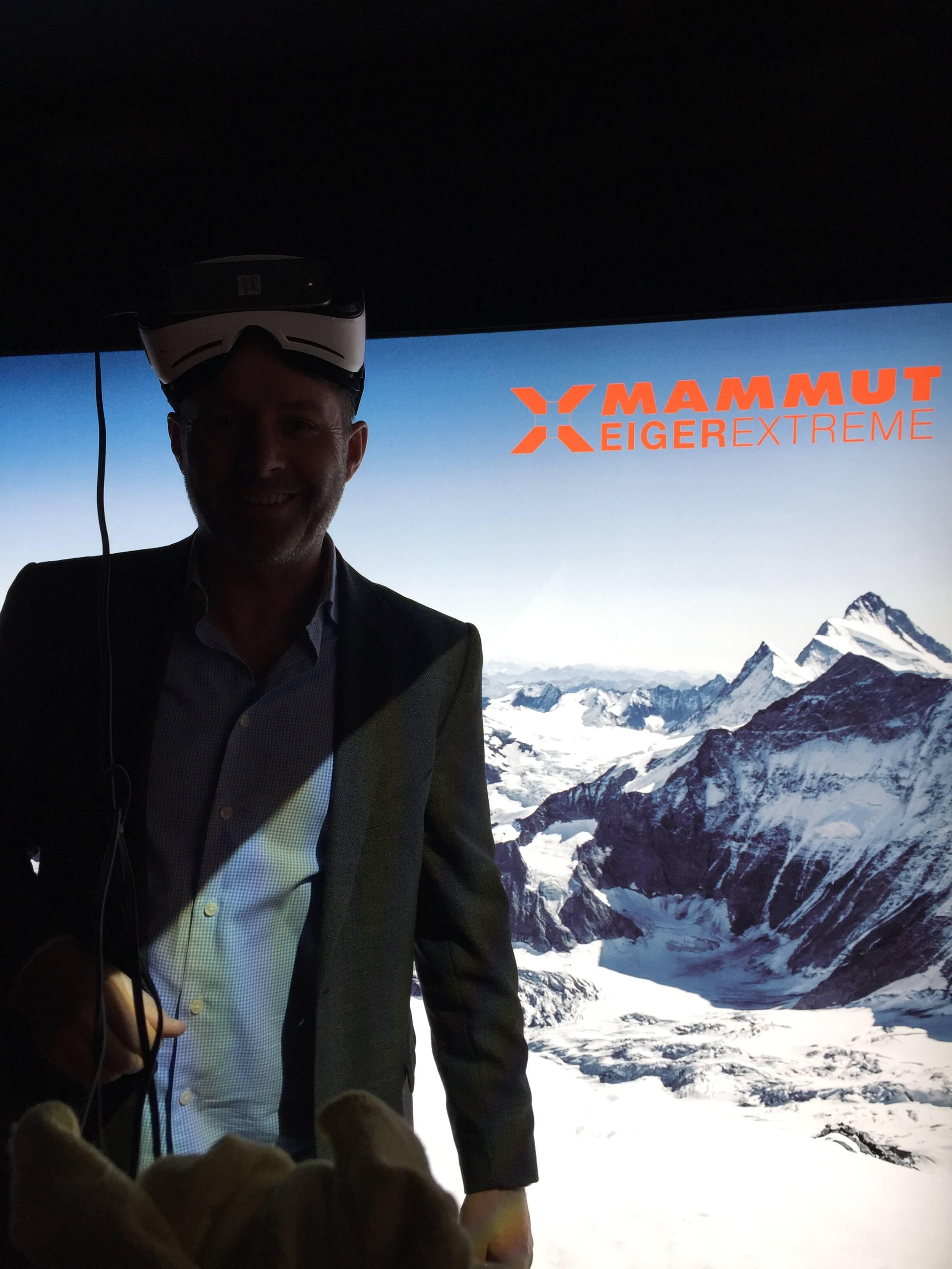 Christoph ostler, ISPO 2017, VR-Mammut