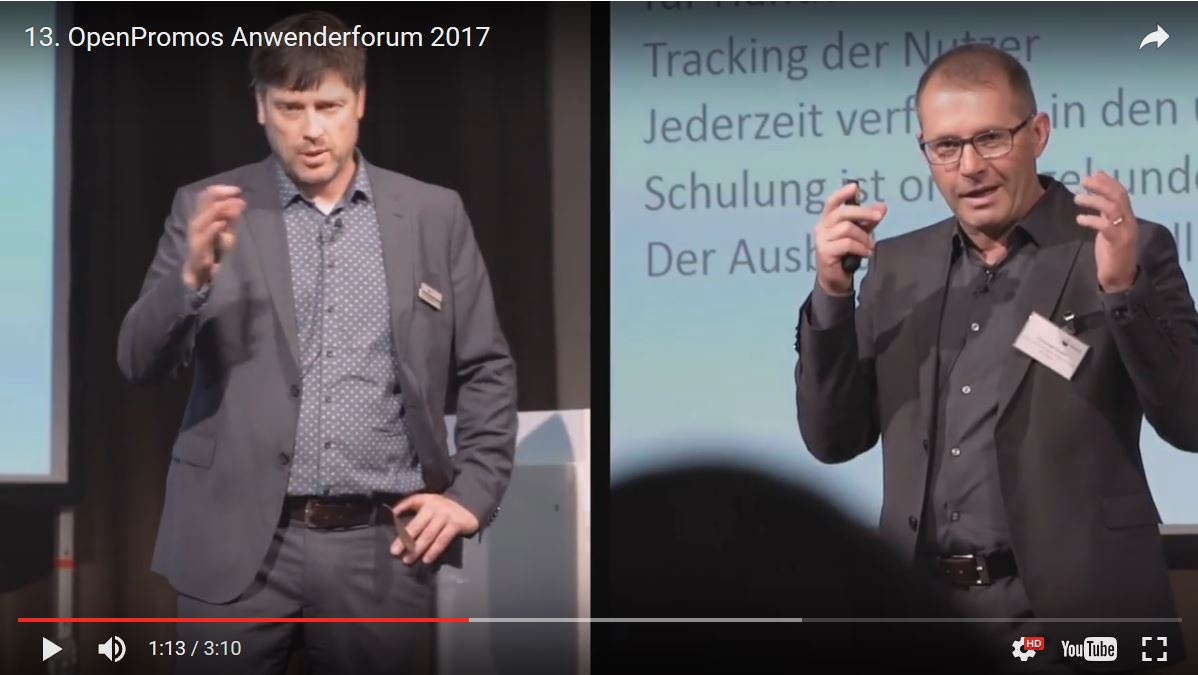 Filmbeitrag Promos und Vortrag Christoph Ostler zu