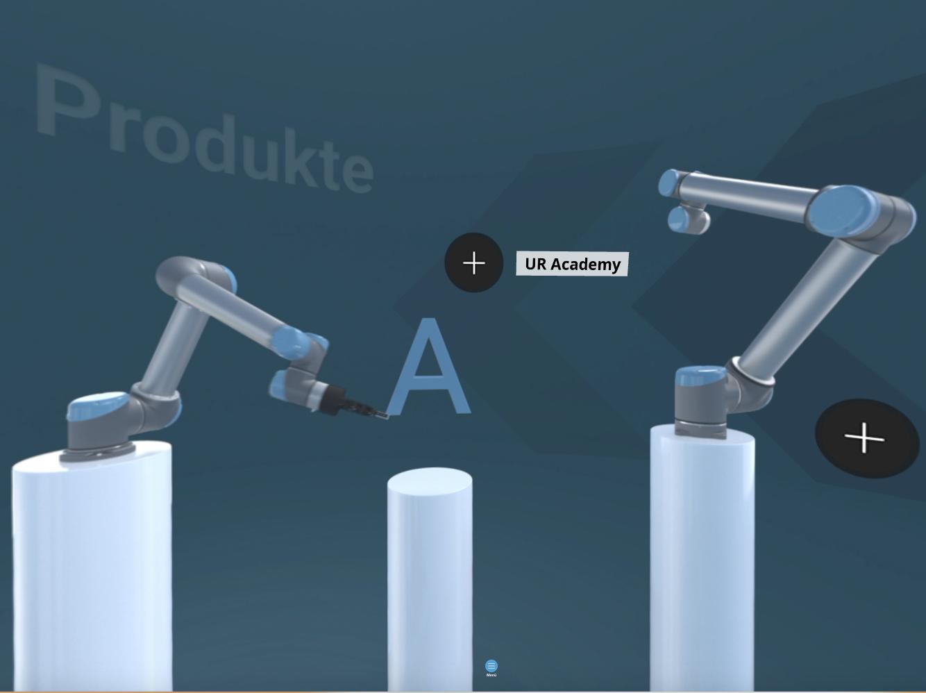 Universal Robots VR-Experience Startseite